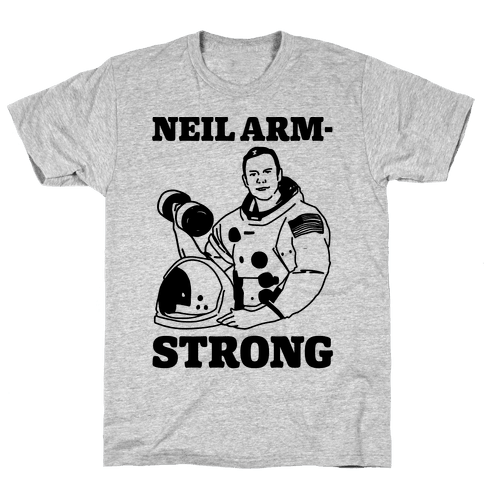 Neil Arm-Strong Lifting Mens T-Shirt