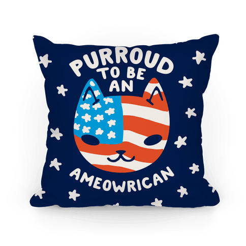 Purroud to be an Ameowrican Pillow