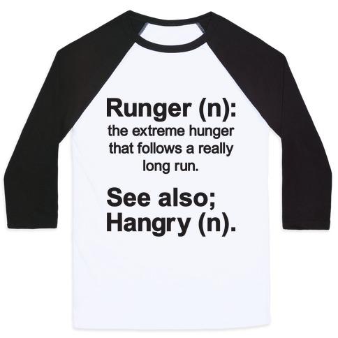 Runger Definition Baseball Tee