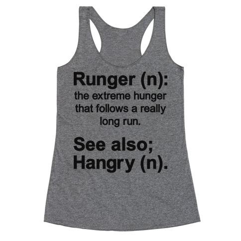 Runger Definition Racerback Tank Top