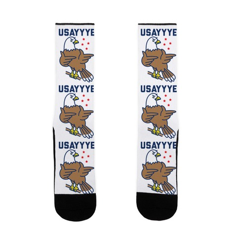 USAYYYE Bald Eagle Sock