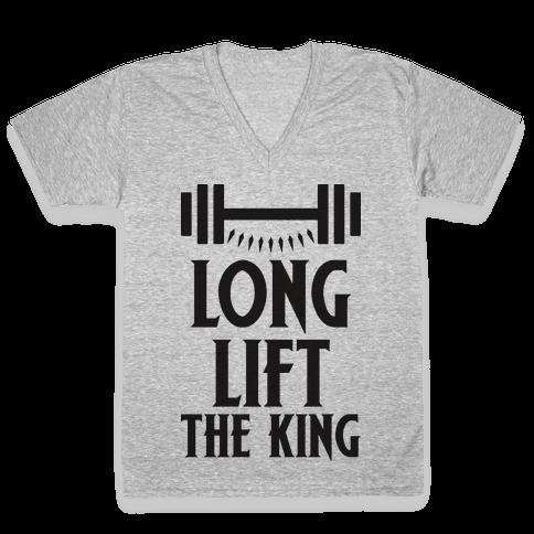 Long Lift The King V-Neck Tee Shirt