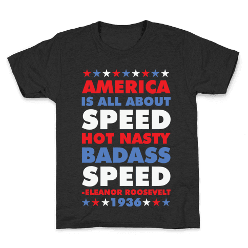 America is All About Speed Kids T-Shirt