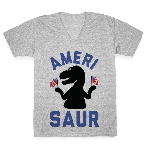 Amerisaur V-Neck Tee Shirt