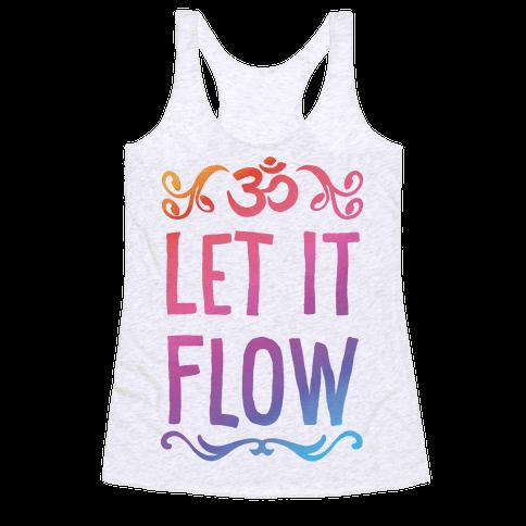 Let It Flow Yoga Racerback Tank Top
