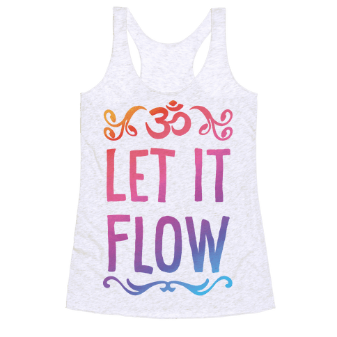 Let It Flow Yoga Racerback Tank Top