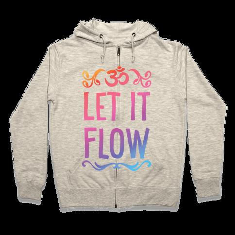 Let It Flow Yoga Zip Hoodie