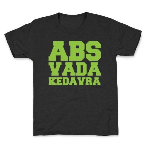 Abs Vada Kedavra Parody White Print Kids T-Shirt