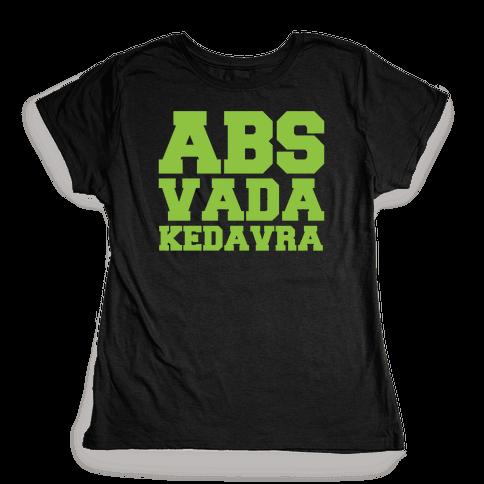 Abs Vada Kedavra Parody White Print Womens T-Shirt