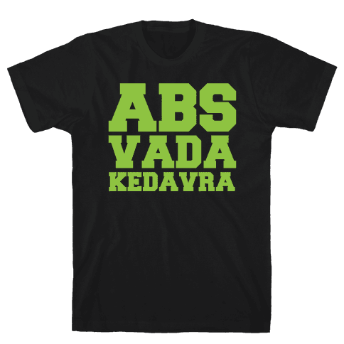 Abs Vada Kedavra Parody White Print Mens T-Shirt