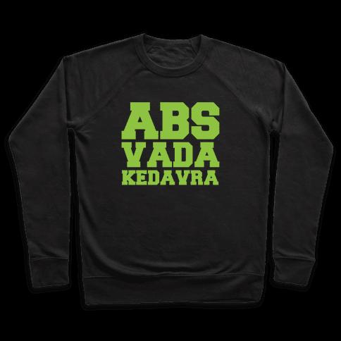 Abs Vada Kedavra Parody White Print Pullover