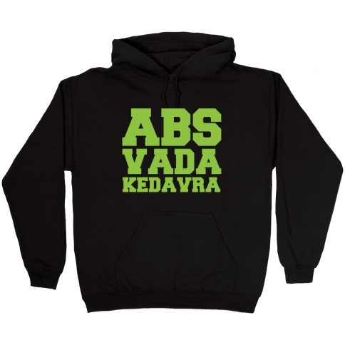 Abs Vada Kedavra Parody White Print Hooded Sweatshirt