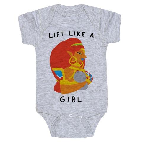 Lift Like A Girl Baby Onesy