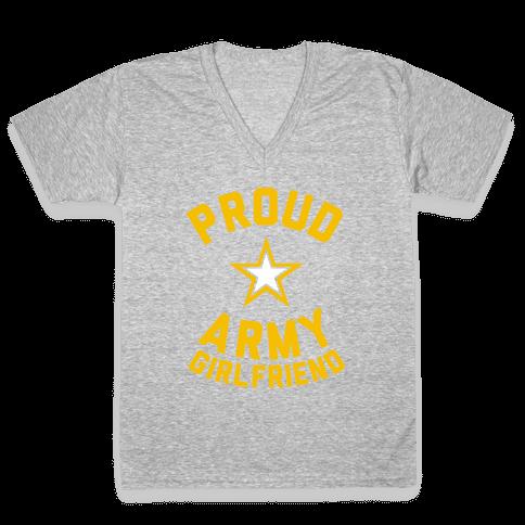 Proud Army Girlfriend V-Neck Tee Shirt