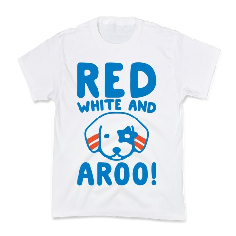 Red White and Aroo  Kids T-Shirt