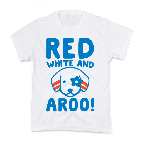 Red White and Aroo  Kids T-Shirt