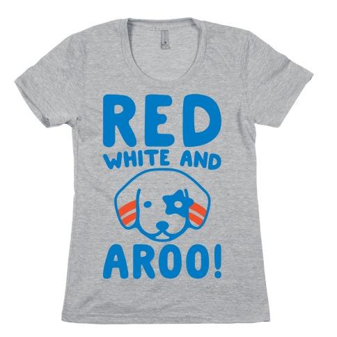 Red White and Aroo  Womens T-Shirt