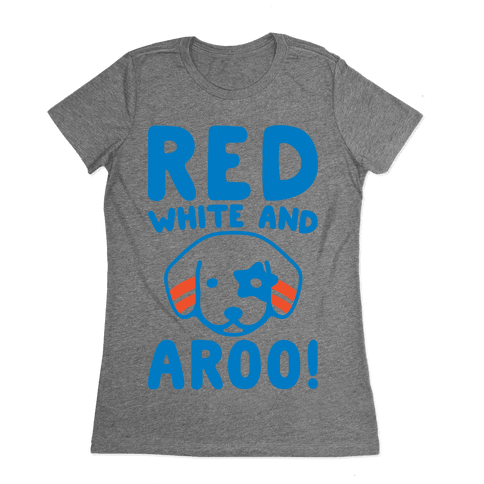 Red White and Aroo  Womens T-Shirt