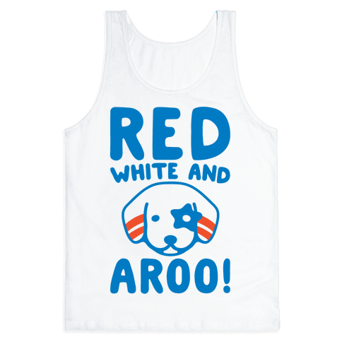 Red White and Aroo  Tank Top