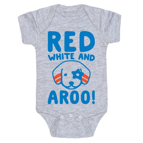 Red White and Aroo  Baby One-Piece