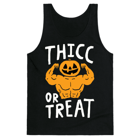 Thicc Or Treat Halloween Tank Top