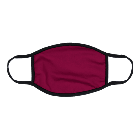 Burgundy Flat Face Mask