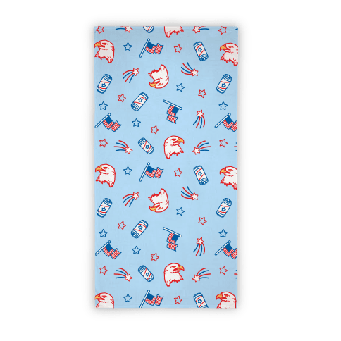 Merica Pattern Beach Towel