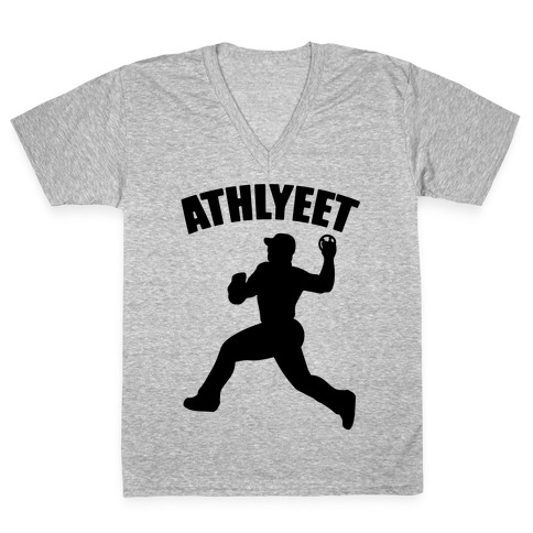 Athlyeet Baseball V-Neck Tee Shirt