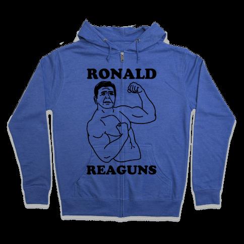Ronald Reaguns Zip Hoodie