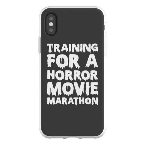 Training For A Horror Movie Marathon Phone Flexi-Case