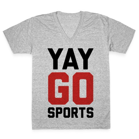 YAY GO SPORTS V-Neck Tee Shirt