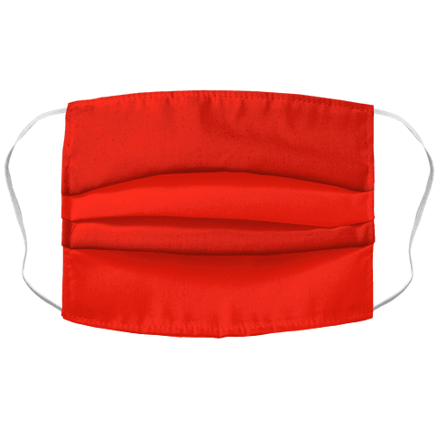 Flame Scarlet Accordion Face Mask