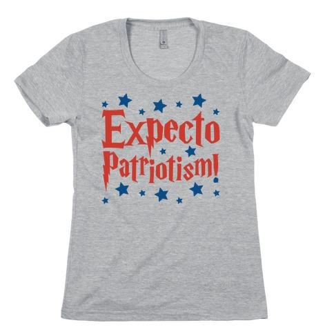 Expecto Patriotism Parody Womens T-Shirt