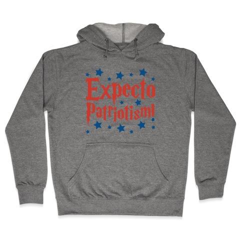 Expecto Patriotism Parody Hooded Sweatshirt