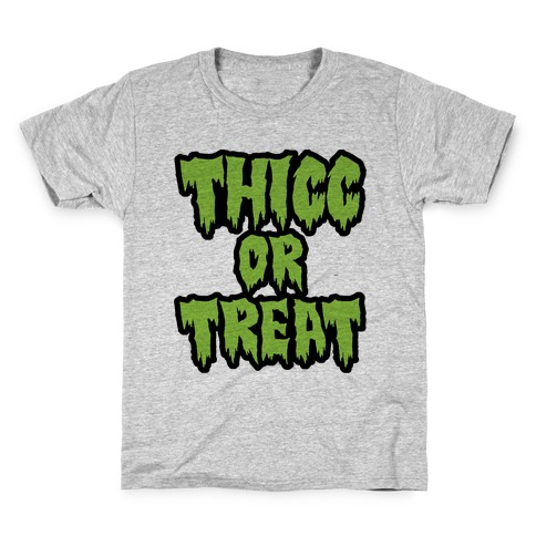 Thicc Or Treat Kids T-Shirt