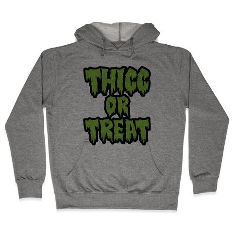 Thicc Or Treat Hooded Sweatshirt