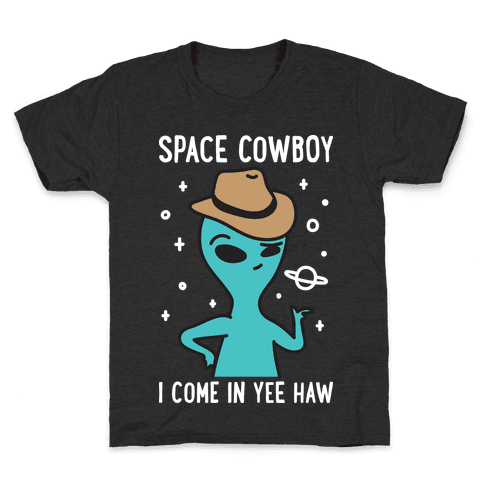 Space Cowboy Alien Kids T-Shirt