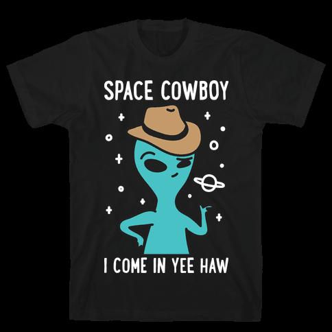 Space Cowboy Alien Mens/Unisex T-Shirt