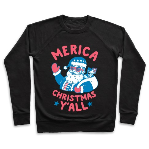 Merica Christmas Y'all Pullover