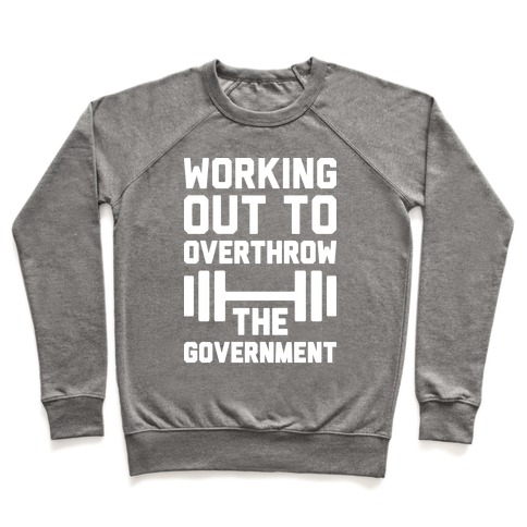 Working Out To Overthrow The Government Pullover