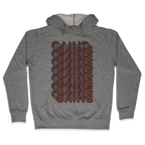 Gains Retro Rainbow Hooded Sweatshirt