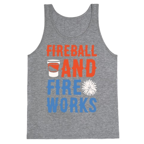 Fireball and Fire Works Tank Top