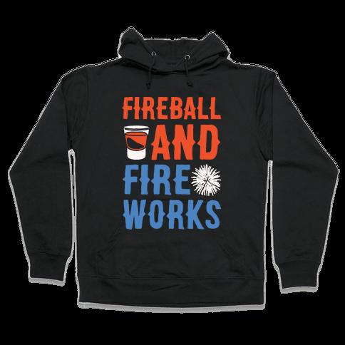 Fireball and Fire Works  Hooded Sweatshirt