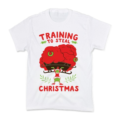 Training to Steal Christmas Kids T-Shirt