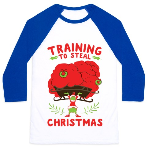 Training to Steal Christmas Baseball Tee