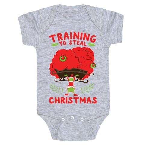 Training to Steal Christmas Baby Onesy