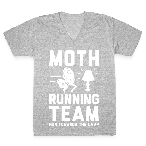 Moth Running Team V-Neck Tee Shirt