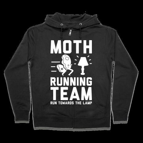 Moth Running Team Zip Hoodie