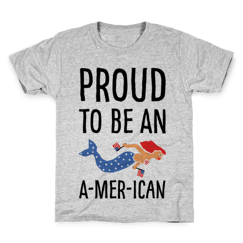 Proud To Be An A-MER-ican Kids T-Shirt