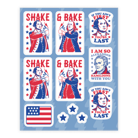 Shake & Bake Patriotic Stickers Sticker and Decal Sheet